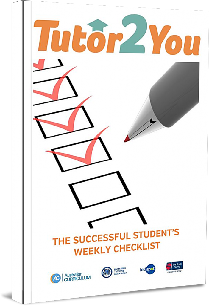 Paperback of Tutor2you's A Student Weekly Checklist