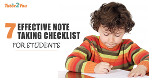 note taking checklist for students - featured image | Tutor2you