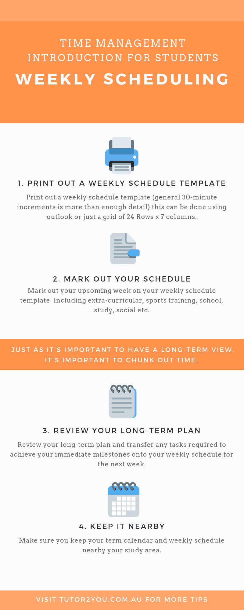 time management for students - weekly scheduling