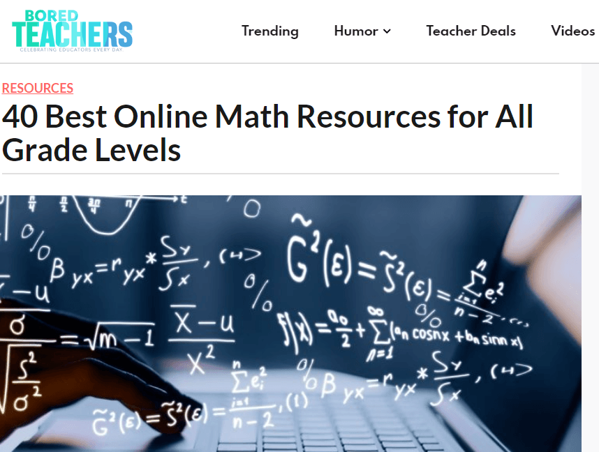free tools & resources to support remote learning boredteachers +40 best online maths resources for all year levels