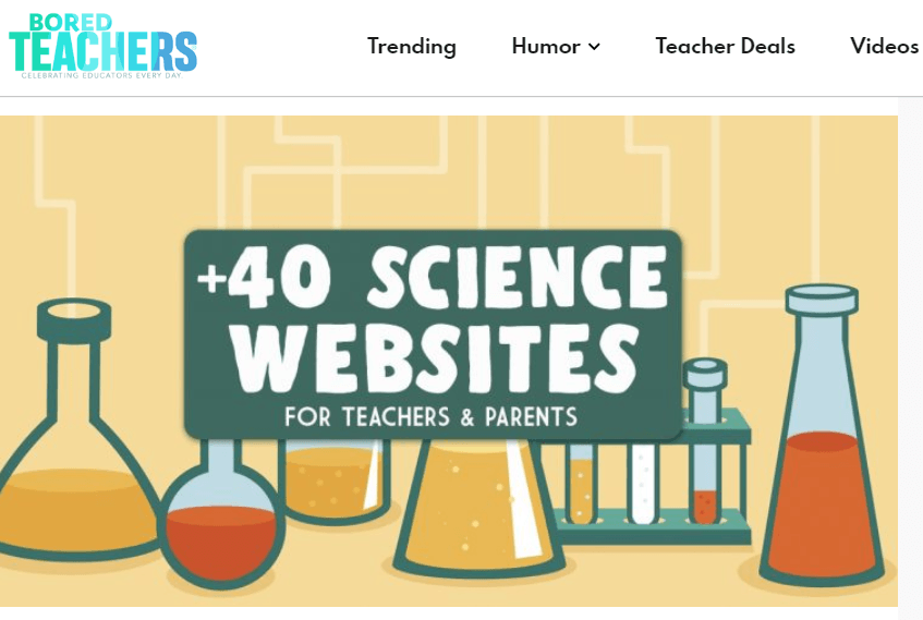 free tools & resources to support remote learning boredteachers +40 science websites for teachers and parents