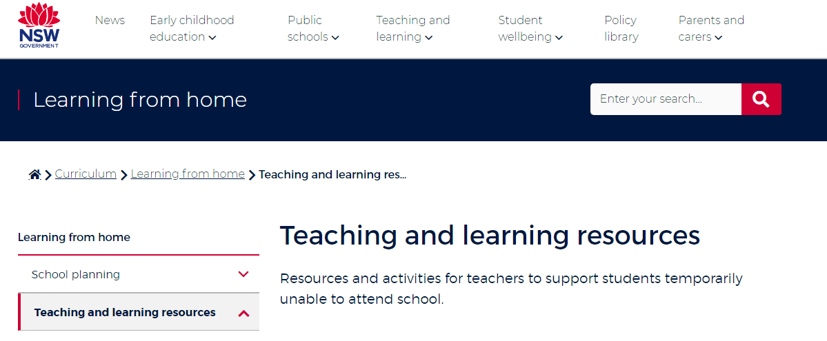 free tools & resources to support remote learning nsw education learning from home