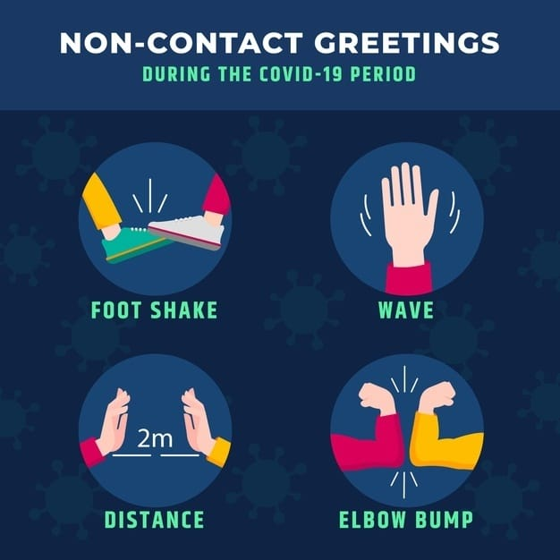non-contact meeting and greeting gestures - how to ensure my child's safety with face-to-face tutoring